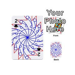 Line  Red Blue Circle Playing Cards 54 (Mini)