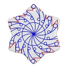 Line  Red Blue Circle Ornament (Snowflake)