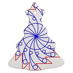 Line  Red Blue Circle Ornament (Christmas Tree)