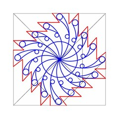 Line  Red Blue Circle Acrylic Tangram Puzzle (6  X 6 )