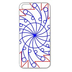 Line  Red Blue Circle Apple Seamless iPhone 5 Case (Clear)