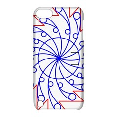 Line  Red Blue Circle Apple Ipod Touch 5 Hardshell Case With Stand