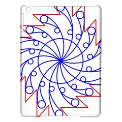 Line  Red Blue Circle iPad Air Hardshell Cases