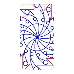 Line  Red Blue Circle Samsung Galaxy Note 3 N9005 Hardshell Back Case