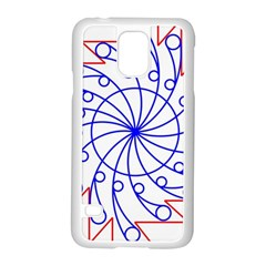 Line  Red Blue Circle Samsung Galaxy S5 Case (White)