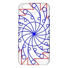 Line  Red Blue Circle Iphone 6 Plus/6s Plus Tpu Case