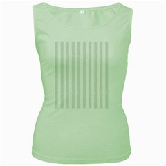 Main Field Football Sport Gray Women s Green Tank Top