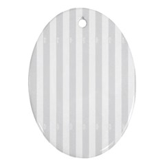 Main Field Football Sport Gray Oval Ornament (Two Sides)