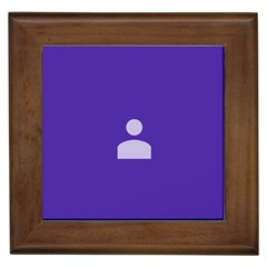 Man Grey Purple Sign Framed Tiles