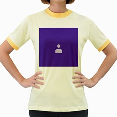 Man Grey Purple Sign Women s Fitted Ringer T Shirts