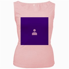 Man Grey Purple Sign Women s Pink Tank Top