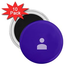 Man Grey Purple Sign 2.25  Magnets (10 pack)
