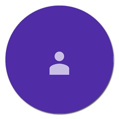 Man Grey Purple Sign Magnet 5  (round)