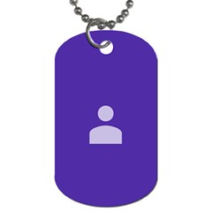 Man Grey Purple Sign Dog Tag (Two Sides)