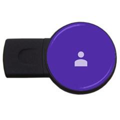 Man Grey Purple Sign USB Flash Drive Round (4 GB)