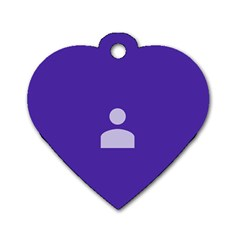 Man Grey Purple Sign Dog Tag Heart (Two Sides)