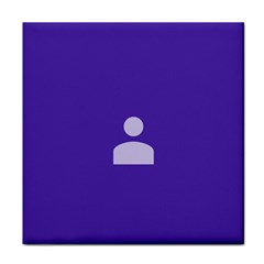 Man Grey Purple Sign Face Towel