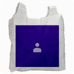 Man Grey Purple Sign Recycle Bag (One Side)