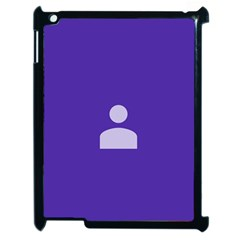 Man Grey Purple Sign Apple iPad 2 Case (Black)
