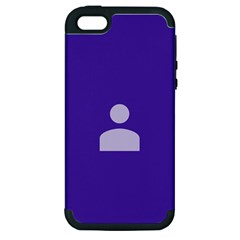 Man Grey Purple Sign Apple iPhone 5 Hardshell Case (PC+Silicone)
