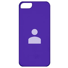 Man Grey Purple Sign Apple iPhone 5 Classic Hardshell Case