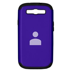 Man Grey Purple Sign Samsung Galaxy S III Hardshell Case (PC+Silicone)