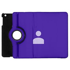 Man Grey Purple Sign Apple iPad Mini Flip 360 Case