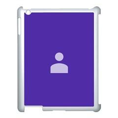 Man Grey Purple Sign Apple iPad 3/4 Case (White)