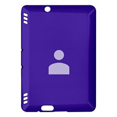 Man Grey Purple Sign Kindle Fire HDX Hardshell Case