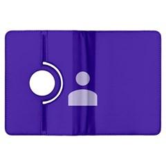 Man Grey Purple Sign Kindle Fire HDX Flip 360 Case