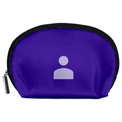 Man Grey Purple Sign Accessory Pouches (Large)