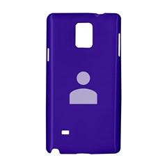 Man Grey Purple Sign Samsung Galaxy Note 4 Hardshell Case