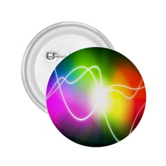 Lines Wavy Ight Color Rainbow Colorful 2.25  Buttons