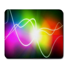 Lines Wavy Ight Color Rainbow Colorful Large Mousepads