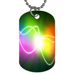 Lines Wavy Ight Color Rainbow Colorful Dog Tag (One Side)