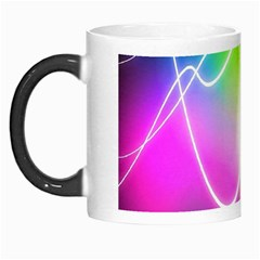 Lines Wavy Ight Color Rainbow Colorful Morph Mugs