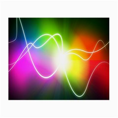 Lines Wavy Ight Color Rainbow Colorful Small Glasses Cloth