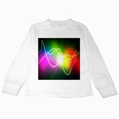 Lines Wavy Ight Color Rainbow Colorful Kids Long Sleeve T Shirts