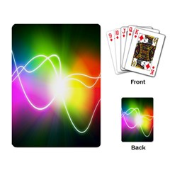 Lines Wavy Ight Color Rainbow Colorful Playing Card