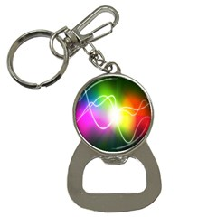 Lines Wavy Ight Color Rainbow Colorful Button Necklaces
