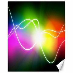 Lines Wavy Ight Color Rainbow Colorful Canvas 11  x 14