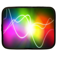 Lines Wavy Ight Color Rainbow Colorful Netbook Case (Large)