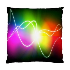 Lines Wavy Ight Color Rainbow Colorful Standard Cushion Case (Two Sides)