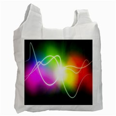Lines Wavy Ight Color Rainbow Colorful Recycle Bag (One Side)