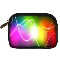 Lines Wavy Ight Color Rainbow Colorful Digital Camera Cases