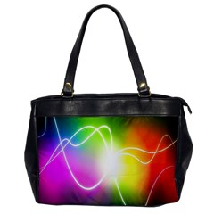 Lines Wavy Ight Color Rainbow Colorful Office Handbags