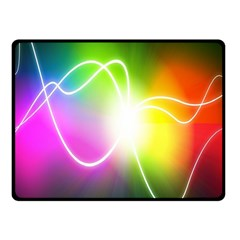 Lines Wavy Ight Color Rainbow Colorful Fleece Blanket (Small)