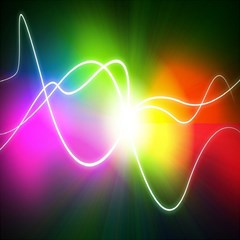 Lines Wavy Ight Color Rainbow Colorful Magic Photo Cubes