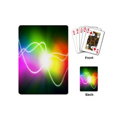 Lines Wavy Ight Color Rainbow Colorful Playing Cards (Mini)
