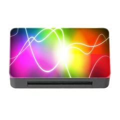 Lines Wavy Ight Color Rainbow Colorful Memory Card Reader with CF
